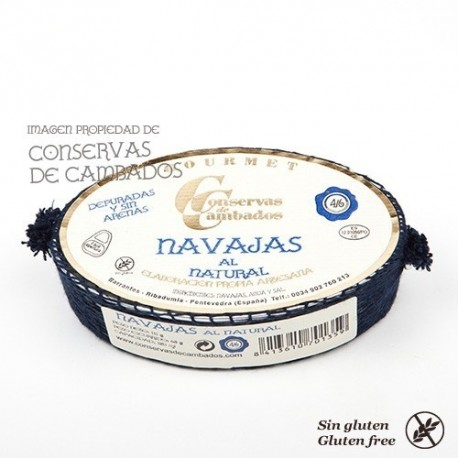 Navajas de las Rías Gallegas al Natural 4/6 Gourmet, Ribadumia