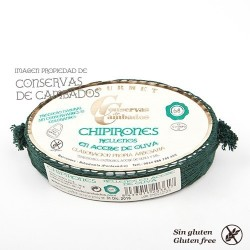 Chipirones rellenos en Aceite de Oliva 6/8 Gourmet, Ribadumia