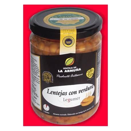 Lenteja de La Armuña con Verduras Legumer - tarro 450gr., Pajares de la Laguna