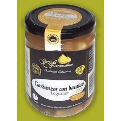 Garbanzos de Fuentesaúco con Bacalao Legumer - tarro 450gr., Pajares de la Laguna