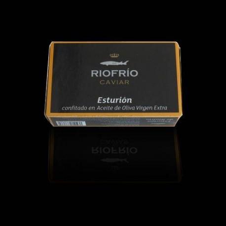 Esturión Confitado en Aceite de Oliva Virgen Extra, Riofrio - Loja