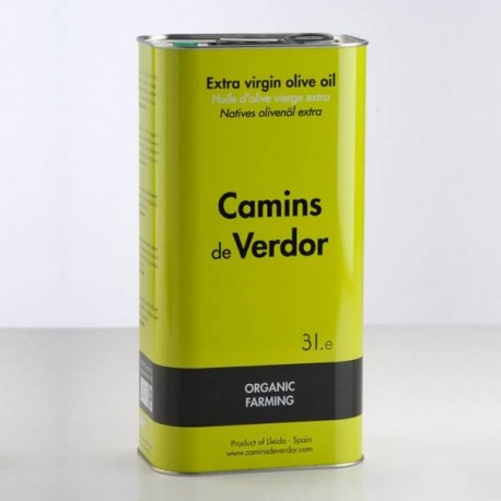 Lata 3l. Aceite de Oliva Virgen Extra Ecológico, Belianes