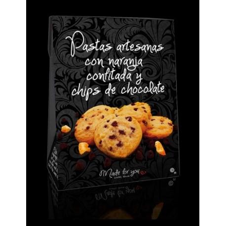 Pastas Artesanas con Naranja confitada y chips de Chocolate El Beato