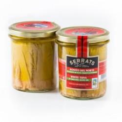 1 Frasco 400 grs. Bonito del Norte en aceite de oliva ecológico, Bermeo