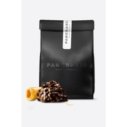 Crujiente de Chocolate Negro   y Barquillo Pancracio